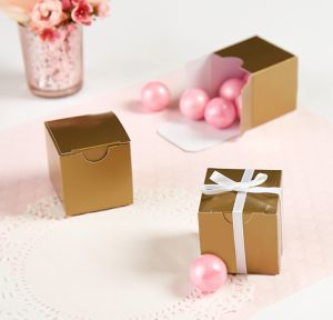 Gold Square Favor Boxes