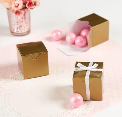 Gold Wedding Favor Boxes 100ct