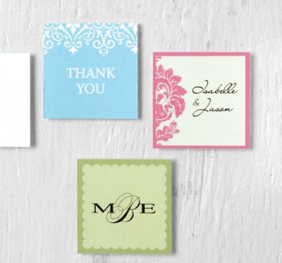 Printable Square Favor Tags 45ct