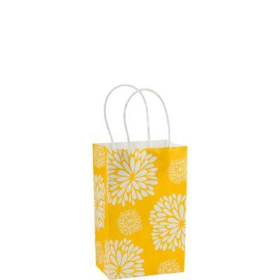 Yellow Mum Mini Gift Bag