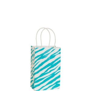 Blue Zebra Print Mini Gift Bag