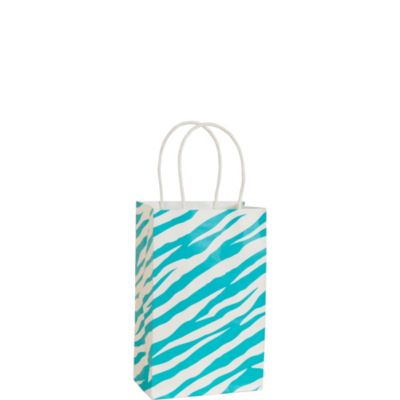 Blue Zebra Print Mini Gift Bag