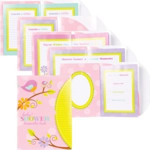 Tweet Baby Girl Baby Shower Keepsake Book 8in