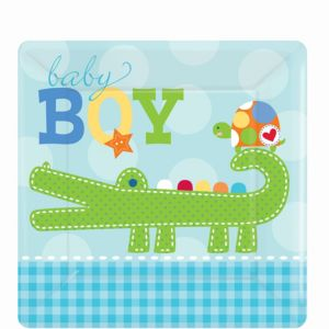 Ahoy Baby Boy Baby Shower Dessert Plates 8ct