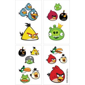Angry Birds Tattoos 1 Sheet