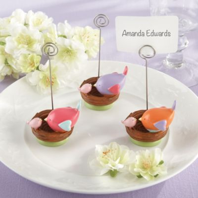 Tweet Baby Girl Place Card Holder Baby Shower Favors 3ct