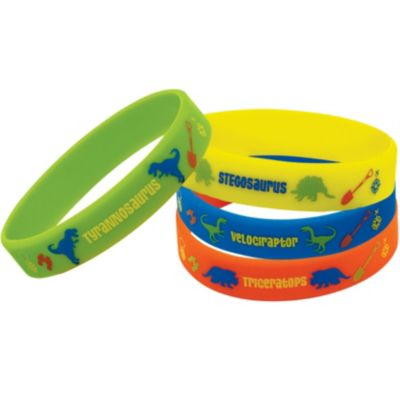 Prehistoric Dinosaurs Wristbands 4ct