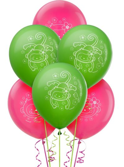 Monkey Love Balloons 6ct