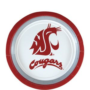 Washington State Cougars Dessert Plates 12ct