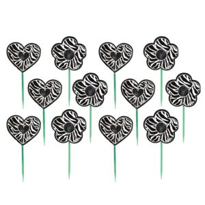 Zebra Print Cupcake Picks 12ct