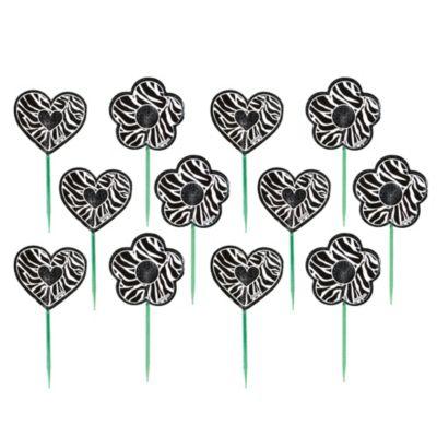 Zebra Print Cupcake Picks 12ct