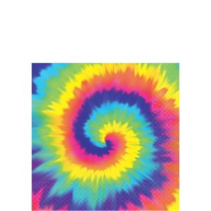 Tie-Dye 60s Beverage Napkins 16ct