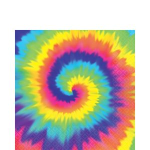 Tie-Dye 60s Lunch Napkins 16ct