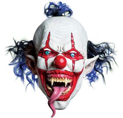 Latex Snake Tongue Clown Mask