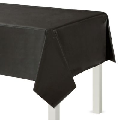 Black Plastic Table Cover