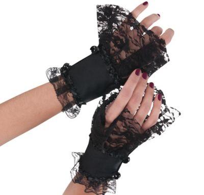 Goth Lace Cuffs