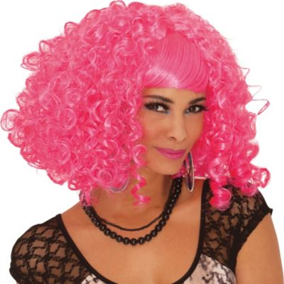 Pink-A-Licious Curly Wig