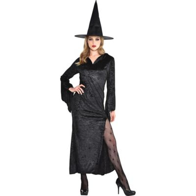 Adult Black Basic Witch Dress