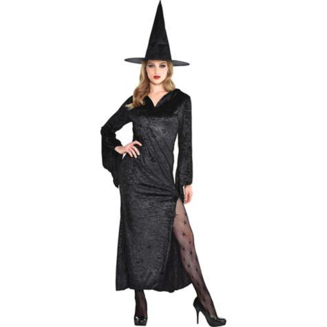 Costume Ideas With Black Dress Adult Black Basic Witch Dress