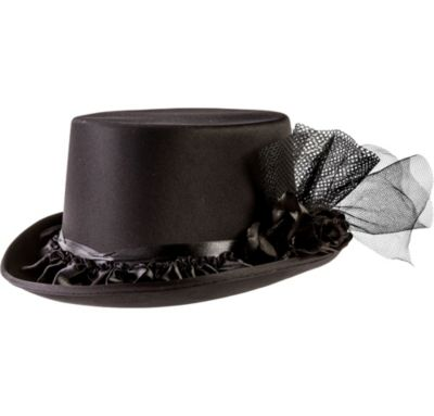 Black Rose Top Hat