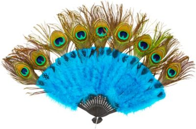 Peacock Feather Fan and Tail Accessory