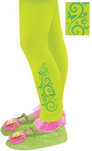 Child Footless Tinker Bell Tights