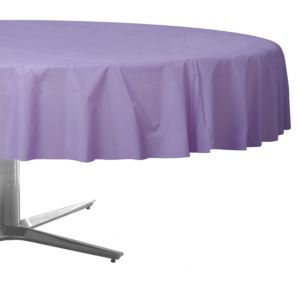 Lavender Plastic Round Table Cover