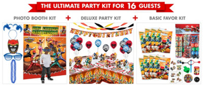 Power Rangers Party Supplies Ultimate Party Kit
