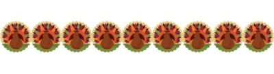 Printed Paper Turkey Garland