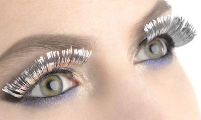 Silver Tinsel Eyelashes