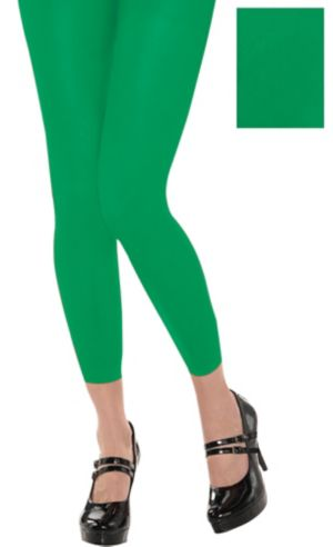 Footless Green Tights