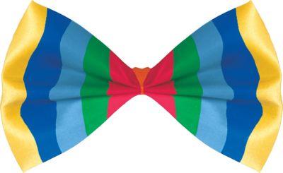 Bright Striped Bow Tie