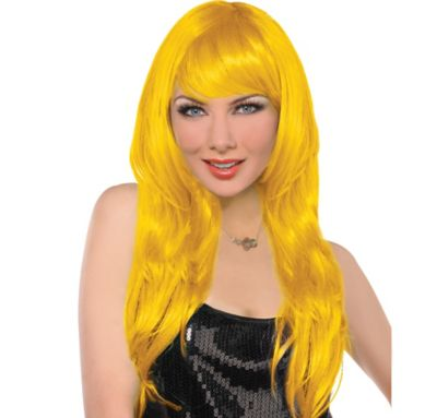 Glam Yellow Wig