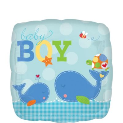 Baby Boy Balloon - Ahoy Baby Boy