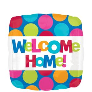 Welcome Home Balloon - Cabana Polka Dot