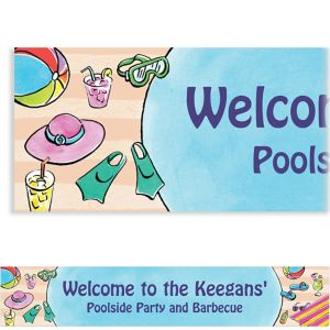 Custom Poolside Soiree Banner 6ft