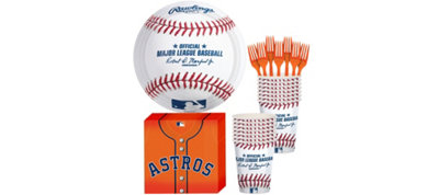 Houston Astros Basic Party Kit for 16 Guests