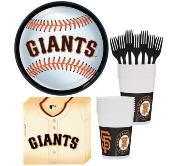 San Francisco Giants Basic Party Kit for 18 Guests