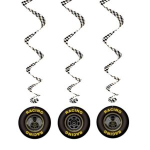 Racing Tires Swirl Decorations 3ft 3ct