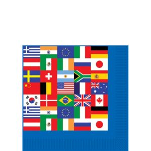 International Flag Beverage Napkins 16ct