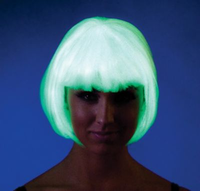Ravewear Glow In The Dark Bob Wig
