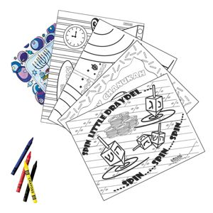 Hanukkah Coloring Placemat Kit 12pc