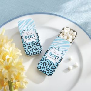 Blue Safari Mint Tin Baby Shower Favor