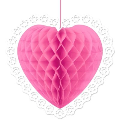 Pink Heart-Shaped Honeycomb