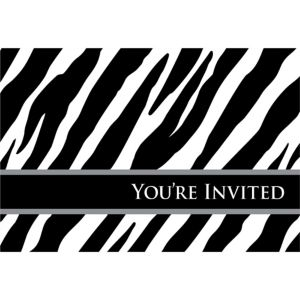 Horizontal Zebra Invitations 8ct