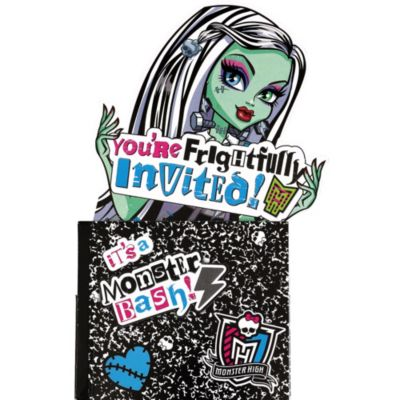 Frightfully Invited Monster High Invitations 8ct