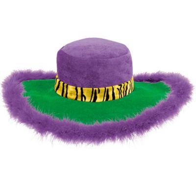 Mardi Gras Marabou Pimp Hat