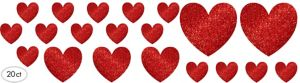 Glitter Heart Cutouts 20ct