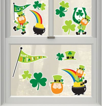 Leprechaun Cling Decals 13ct