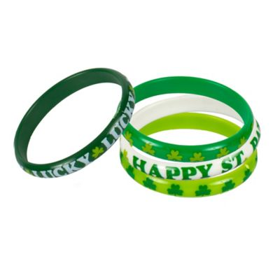 St. Patrick's Day Bangles 4ct